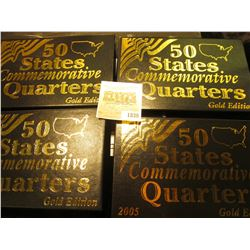 "1838 _ 2003, 2004, 2005, & 2006""Commemorative Quarters Gold Edition"" Five-piece Statehood Quarter Se"