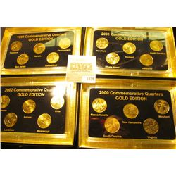 "1839 _ 1999, 2000, 2001, & 2002 ""Commemorative Quarters Gold Edition"" Five-piece Statehood Quarter S"