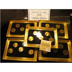 "1840 _ 2003, 2006, (2) 2007, & 2008 ""Commemorative Quarters Gold Edition"" Five-piece Statehood Quart"