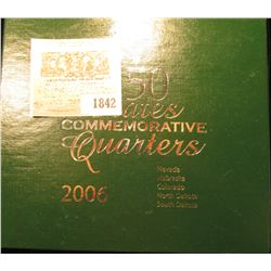 1842 _ 2006 States Commemorative Quarters Boxed Set. Nevada, Nebraska, Colorado, North & South Dakot