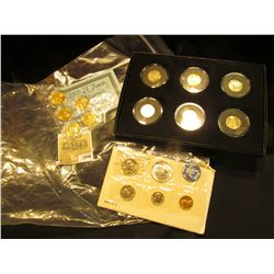 "1846 _ 2005 P & D ""Bison"" Nickels; 2005 P Gold-plated ""Bison"" Nickel; (2) 2005 D :Ocean in View"" & 2"