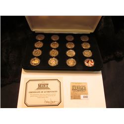 1847 _ Sixteen-piece Sacagawea BU or Proof Sacagawea Dollar Set in a velvet-lined case with COA. Con