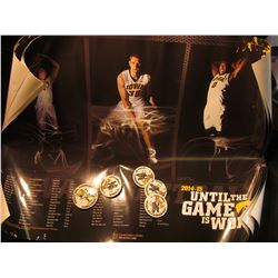 "1897 _ (3) 2014-2015 ""Until The Game is Won"" University of Iowa Hawkeye Basketball Posters in excell"