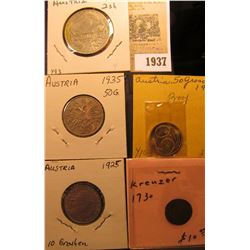 1937 _ (5) Austria Coins dating from 1730 to 1965 and includes a Proof.
