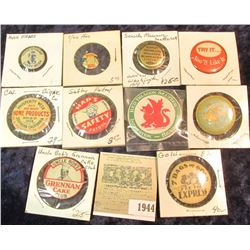 1944 _ (10) Different Old Pin-backs, which Doc had valued at over $100.00.