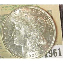 1961 _ 1921 P U.S. Morgan Silver Dollar, Gem BU.