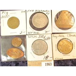 "1963 _ 2000 Pig Token; ""Official Token/5 R.M./Jersey/Five Reichmark"", Triangular-shaped token; ""Tony"