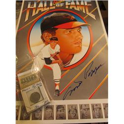 """1972 _ Autographed Milt Pappas Poster """"Orioles Hall of Fame"""" measures 11 1/2"""" x 17""""; & 1910 EF, 1938"""