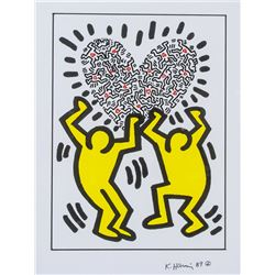 Attr. KEITH HARING American 1958-1990 Marker Paper
