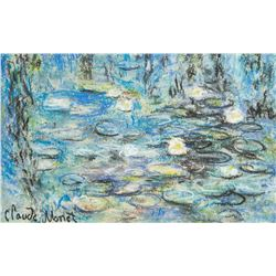 Manner CLAUDE MONET French 1840-1926 Pastel/Paper