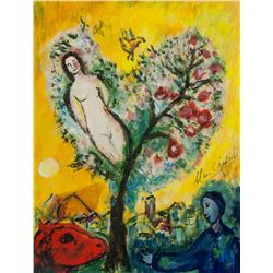 Attr. MARC CHAGALL French 1887-1985 Gouache/Paper