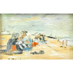 Attr. EUGENE BOUDIN French 1824-1898 OOC