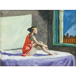 Attr. EDWARD HOPPER US 1882-1967 Oil on Paper