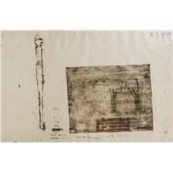 Oil Stick Monotype on Paper Unattributed