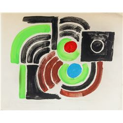 Attr. SONIA DELAUNAY French 1885-1979 Mixed Media