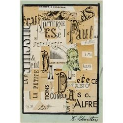 Attr. KURT SCHWITTERS German 1887-1948 Mixed Media