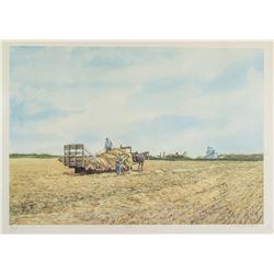 ARMAND PAQUETTE Canadian b.1930 Lithograph Field
