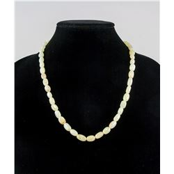 Chinese Hetian White Jade Carved Necklace