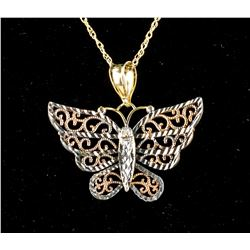 Gold Butterfly Necklace RV $300