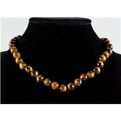 Large Tigereye Pearled Necklace RV $400