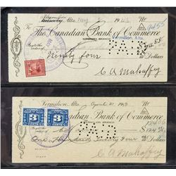 1943 Canadian Bank of Commerce Cancelled Cheques