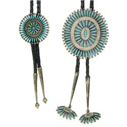 Zuni His and Hers Bolo Ties - JHY