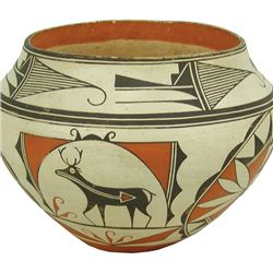 Zuni/Acoma Pottery Jar - Adrian Vallo