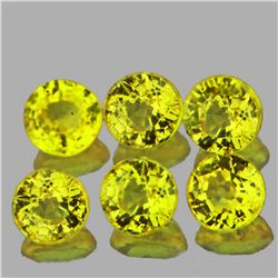 Round Natural Intense Yellow Sapphire 3.00 MM