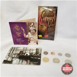 "2002 RCM Grouping (3 Items): 2002 Uncirculated Set; ""Once Upon a Time"" Keepsake Booklet with 10 Gold"