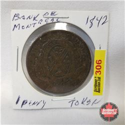 Bank of Montreal 1842 One Penny