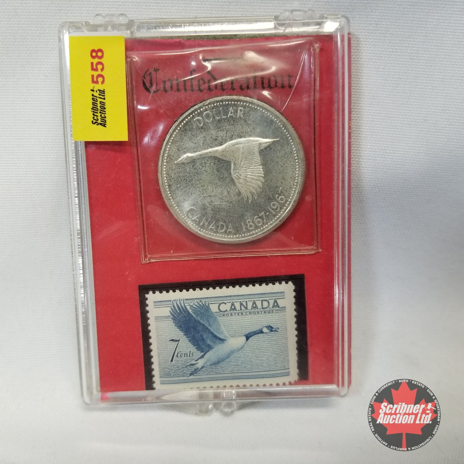 Canada One Dollar 1967 7 Cent Stamp Set