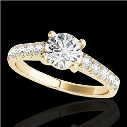 1.55 CTW H-SI/I Certified Diamond Solitaire Ring 10K Yellow Gold - REF-207K3W - 35491