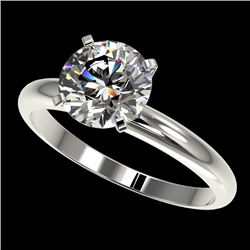 2 CTW Certified H-SI/I Quality Diamond Solitaire Engagement Ring 10K White Gold - REF-615A2X - 32932