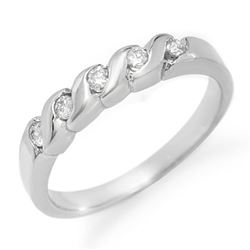 0.20 CTW Certified VS/SI Diamond Ring 14K White Gold - REF-30X4T - 11430