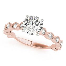 1.5 CTW Certified VS/SI Diamond Solitaire Ring 18K Rose Gold - REF-375T6M - 27484
