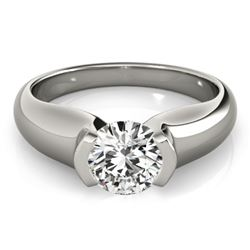 0.5 CTW Certified VS/SI Diamond Solitaire Ring 18K White Gold - REF-108Y9K - 27798