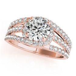 1.25 CTW Certified VS/SI Diamond Solitaire Ring 18K Rose Gold - REF-225F6N - 27979