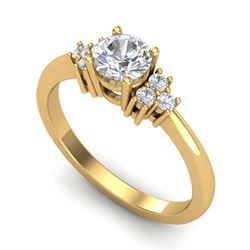0.75 CTW VS/SI Diamond Ring 18K Yellow Gold - REF-131W3F - 36934