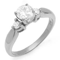 0.75 CTW Certified VS/SI Diamond Solitaire Ring 14K White Gold - REF-119K5W - 11630