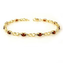 2.76 CTW Garnet & Diamond Bracelet 10K Yellow Gold - REF-26W2F - 12864