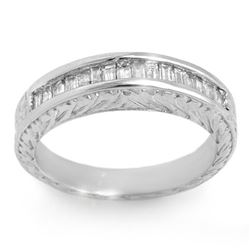 1.33 CTW Baguette Certified VS/SI Diamond Ring 14K White Gold - REF-119W6F - 11564