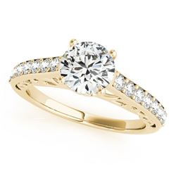 1.65 CTW Certified VS/SI Diamond Solitaire Ring 18K Yellow Gold - REF-498M2H - 27653