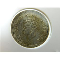 COIN - 1/4 RUPEE - INDIA - 1945(.)B - SMALL 5