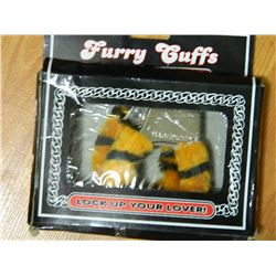 NEW FURRY HANDCUFFS - WITH QUICK RELEASE SAFETY - TIGER