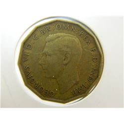 COIN - THREE PENCE - 1937