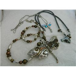 NECKLACES - ASSORTED - DOLPHIN & 2 DRAGONFLY=3 TTL