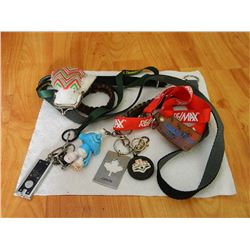 BAG OF ASSORTED KEY CHAINS & LANYARDS