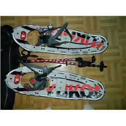 SNOW SHOE KIT - YUKON CHARLIE'S 9 X 30 SNOW SHOES INCLUDES SPIKE GRIPS, 2 EXPANDING POLES AND CASE -