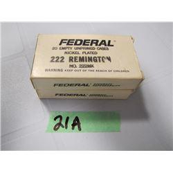 lot of 40 brass 222 Remington