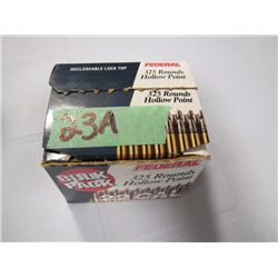 open box of 22 long rifle approximately two-thirds full